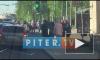 Видео: в Выборгском районе на переходе сбили велосипедистку
