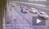 """Автомобиль снес столб и влетел в """"Кресты"""" на Арсенальной"""