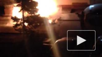 Очевидец снял горящую машину в Ростовской области