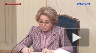 "Матвиенко: Нужно уходить от интернета ""на березе"""