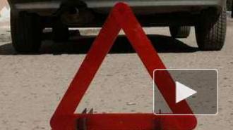 """На Кантемировской улице """"ПАЗ"""" сбил светофор и переходившую дорогу женщину"""