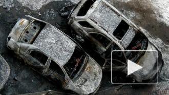 На проспекте Просвещения ночью  сгорело два автомобиля