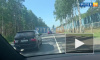 На Зеленогорском шоссе под Комарово столкнулись три иномарки