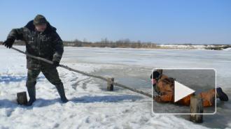 Сотрудники МЧС спасли шестерых школьников, решивших погулять по льду Большой Невки в Петербурге