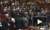 Опубликовано видео массовой драки в парламенте Армении
