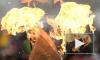 На екатеринбургском факелоносце загорелась шапка и одежда