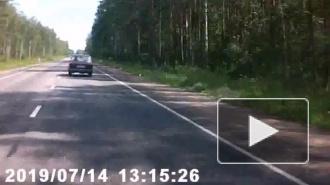 Момент аварии возле поселка имени Морозова попал на видео