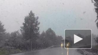 В Челябинской области выпал снег, на улицах образовались сугробы