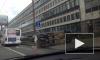 Перевертыш на Кантемировской: столкновение выбило окна в маршрутке