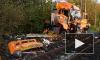 Появилось первое видео с места столкновения скорого поезда с грузовиком в Германии