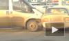 Видео из Уфы: микроавтобус протаранил две легковушки