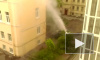 Появилось видео фонтана горячей воды в зоне прорыва на Васильевском