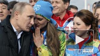 Беременная Исинбаева пошепталась с Путиным перед открытием Олимпиады в Сочи 2014