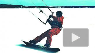 Горячий прогноз: сноукайтинг на тонком льду