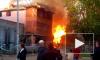 Жуткое видео из Подмосковья: дотла сгорели торговые павильоны