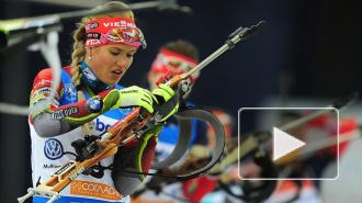Биатлон: Екатерина Глазырина завоевала серебряную медаль в гонке преследования