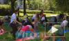 В двух парках Петербурга прошли бесплатные занятия йогой