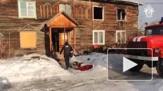 В Красноярском крае потушили пожар в доме, где погибли дети