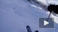 Опасное видео из Швейцарии: горнолыжник упал в расщелину
