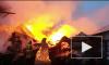Появилось видео тушения пожара бывшего завода в Петродворцовом районе