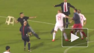 Сербские болельщики напали на футболистов (видео)