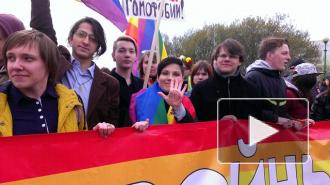 ЛГБТ со скандалом прошли по Невскому в первомайской колонне