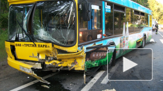 В ДТП с автобусом под Петербургом погиб человек