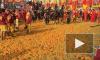 """В Италии на традиционном карнавале во время """"Битвы апельсинов"""" уничтожили 500 тонн фруктов"""
