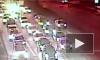 Появилось видео тарана самосвалом 9 машин в Москве