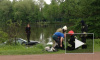 Мужчина на Porshe улетел в озеро в Сестрорецке