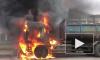 Появилось видео полыхающего КАМАЗа на Глухоозерском шоссе