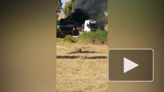 Израильский танк загорелся и попал на видео