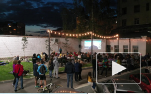 Видео: Выборг присоединился к всемирному фестивалю уличного кино