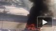 В Кудрово сгорел автобус - видео