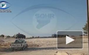 Опубликовано видео российской военной колонны в Сирии