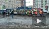 На проспекте Ветеранов встали троллейбусы из-за обесточенной контактной сетьи