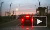 Сход электрички с путей в Петербурге попал на видеорегистратор