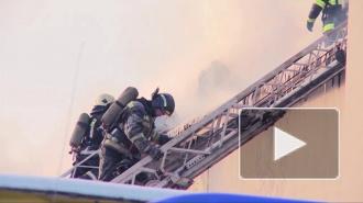 Глубокой ночью пожарные тушили огонь в магазине на Московском проспекте