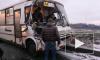 Фото с места событий: Фура оторвала переднюю часть корпуса маршрутки на Софийской улице