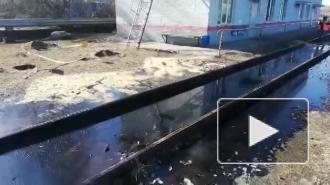 Почти три тонны мазута разлили на железной дороге под Выборгом
