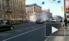 В Сети появилось видео страшного автомобильного пожара в центре Невского проспекта