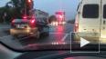 На Митрофаньевском шоссе маршрутка влетела в сфетофор
