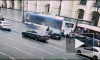 Появилось видео с момента ДТП на Невском проспекте