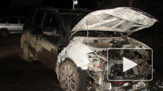 В Петербурге ночью горели три автомобиля