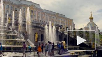 Детям из Луганска показали фонтаны Петергофа