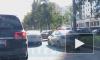 Мотоциклист столкнулся с иномаркой у въезда во двор на Космонавтов