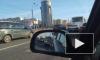 Легковушка залезла под автобус на Ленинском проспекте