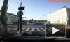 Видео: на Дворцовой набережной кроссовер врезался в иномарку у пешеходного перехода
