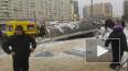 Иномарка снесла остановку на Богатырском проспекте: ...