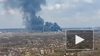 Серьёзный пожар произошел в воинской части ВСУ на Донбассе